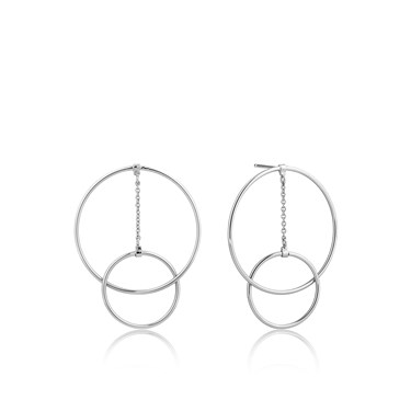 Ania Haie Modern Front Hoop Earrings  - Click to view larger image
