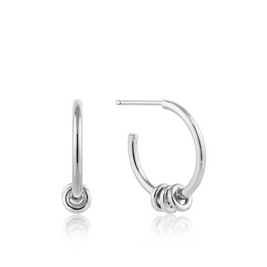 Ania Haie Modern Hoop Earrings  - Click to view larger image