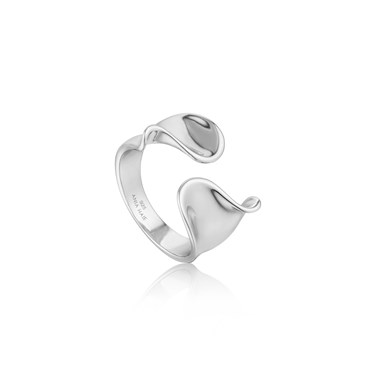 Ania Haie Twist Wide Adjustable Ring  - Click to view larger image