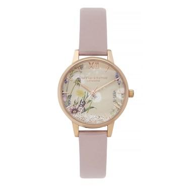 Olivia Burton Vegan Rose Sand Wishing Watch  - Click to view larger image