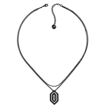 Karl Lagerfeld Black Deco Concentric Necklace  - Click to view larger image