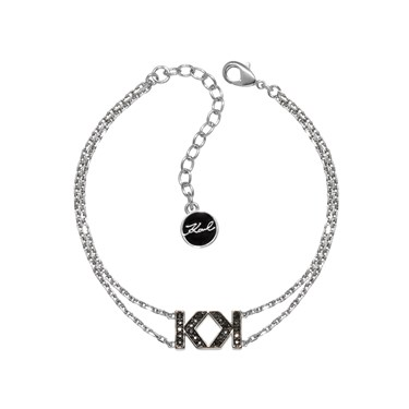 Karl Lagerfeld Double Karl Silver Bracelet  - Click to view larger image