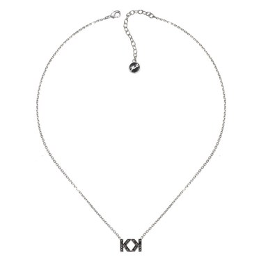 Karl Lagerfeld Double Karl Mini Silver Necklace  - Click to view larger image