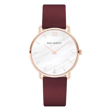 Paul Hewitt Miss Ocean Line Berry + Rose Gold Watch  - Click to view larger image