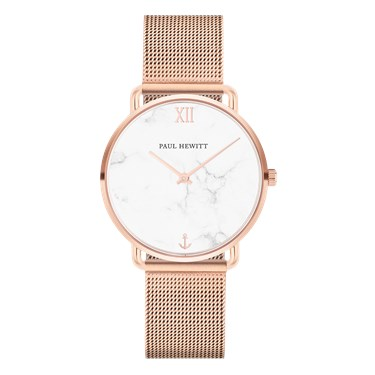 Paul Hewitt Miss Ocean Marble Rose Gold Mesh Watch  - Click to view larger image