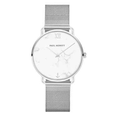 Paul Hewitt Miss Ocean Marble Steel Mesh Watch  - Click to view larger image