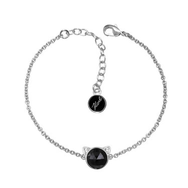 Karl Lagerfeld Silver + Black Choupette Bracelet  - Click to view larger image