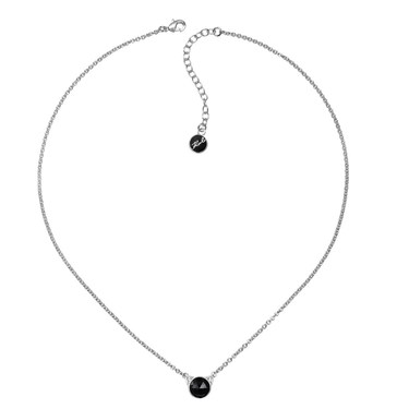 Karl Lagerfeld Silver + Black Choupette Necklace  - Click to view larger image