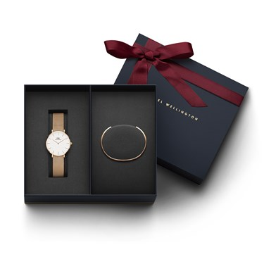 Daniel Wellington Ladies Petite Melrose Watch & Bracelet Gift Set  - Click to view larger image