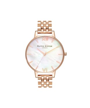 Olivia Burton Mother of Pearl & Rose Gold Bracelet  - Click to view larger image