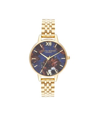 Olivia Burton Lapis Lazuli & Gold Bracelet Watch  - Click to view larger image