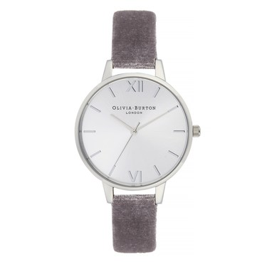Olivia Burton Demi Lilac Velvet & Silver Watch  - Click to view larger image