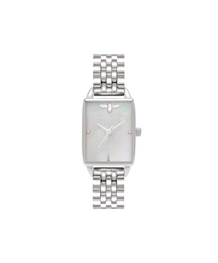 Olivia Burton Mother of Pearl Beehive Rectangle Watch  - Click to view larger image