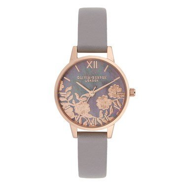 Olivia Burton Mother of Pearl & Lilac Watch  - Click to view larger image