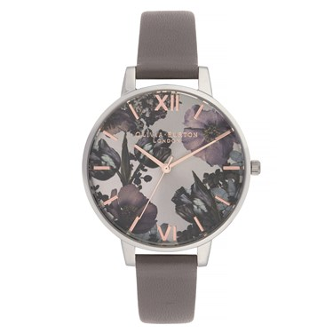 Olivia Burton Twilight London Grey & Silver Watch  - Click to view larger image