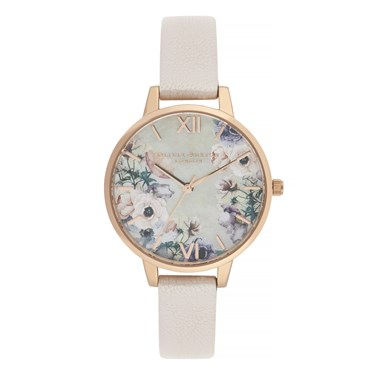 Olivia Burton Mother of Pearl & Pink Watch  - Click to view larger image