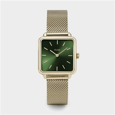 CLUSE Garconne Gold & Green Watch  - Click to view larger image