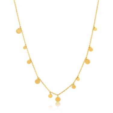 Ania Haie Gold Geometry Mixed Discs Necklace  - Click to view larger image