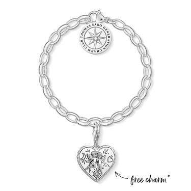 Thomas Sabo Christmas Set - Bracelet and Angel Charm  - Click to view larger image