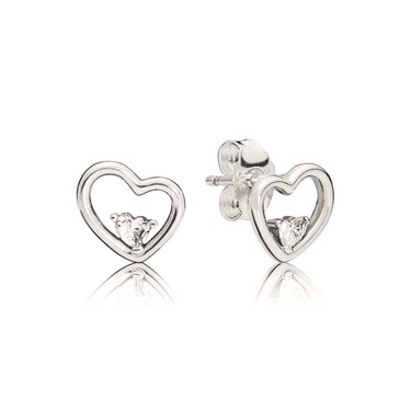 Pandora Hearts of Love Stud Earrings  - Click to view larger image