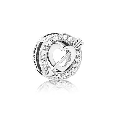 Pandora Reflexions Heart and Arrow Clip Charm  - Click to view larger image