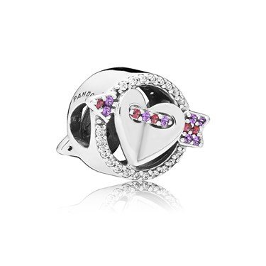 PANDORA Sparkling Arrow & Heart Charm  - Click to view larger image