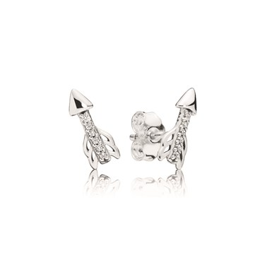 Pandora Sparkling Arrows Stud Earrings  - Click to view larger image