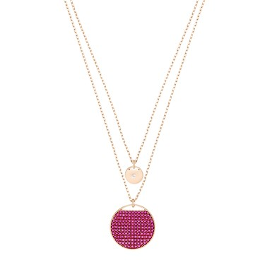 Swarovski Ginger Layer Fuchsia Necklace  - Click to view larger image