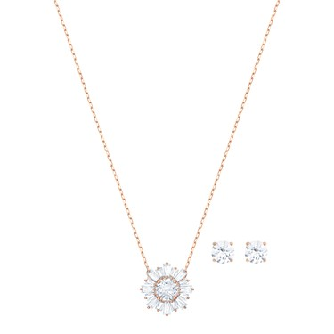 Swarovski Rose Gold Sunshine Set  - Click to view larger image