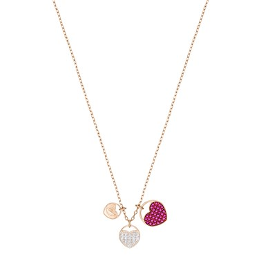 Swarovski Ginger Heart Necklace  - Click to view larger image
