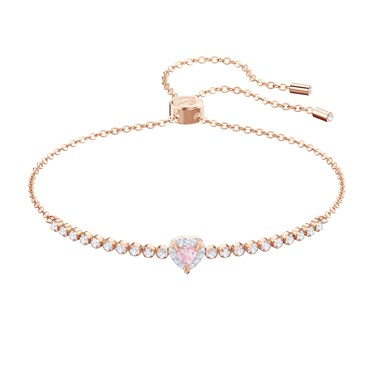 Swarovski One Subtle Heart Bracelet  - Click to view larger image