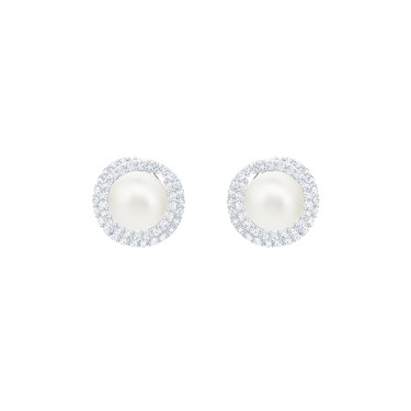 Swarovski Originally Pearl Stud Earrings  - Click to view larger image