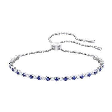 Swarovski Subtle Trilogy Blue Pull Bracelet  - Click to view larger image