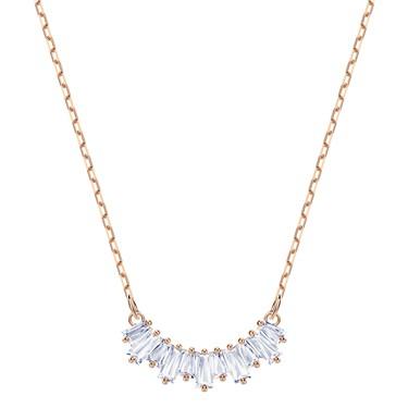 Swarovski Rose Gold Crystal Sunshine Necklace  - Click to view larger image