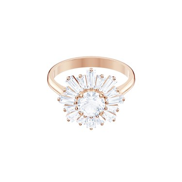 Swarovski Rose Gold Sunshine Ring  - Click to view larger image