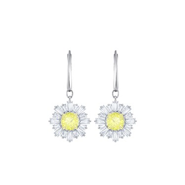 Swarovski Silver Drop Sunshine Earrings  - Click to view larger image