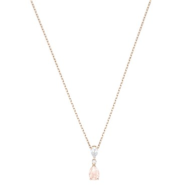 Swarovski Vintage Pear Rose Necklace  - Click to view larger image
