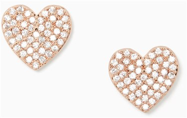 Kate Spade New York Pave Heart Stud Earrings  - Click to view larger image
