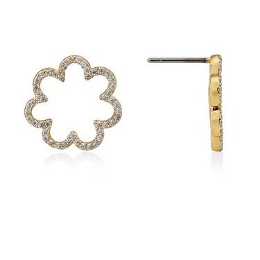 Kate Spade New York Pave Scallop Studs  - Click to view larger image