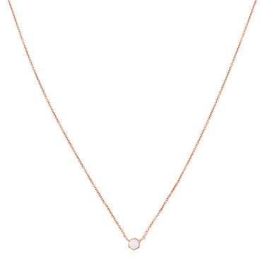 Argento Rose Gold White Opal Necklace  - Click to view larger image