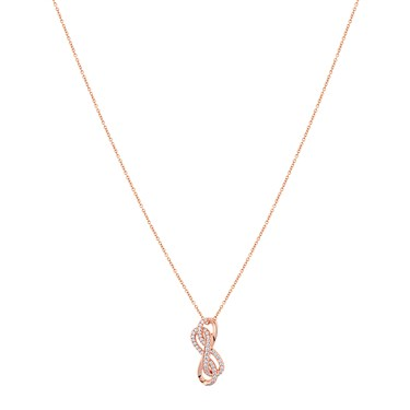 Argento Rose Gold Infinity Crystal Stud Necklace  - Click to view larger image