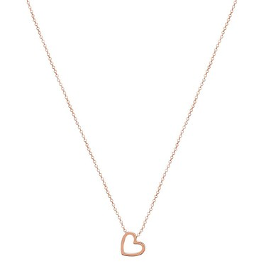 Argento Rose Gold Open Heart Necklace  - Click to view larger image