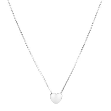 Argento Silver Heart Puff Necklace  - Click to view larger image