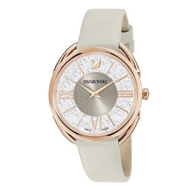 Swarovski Crystalline Glam Taupe + Rose Gold Watch  - Click to view larger image