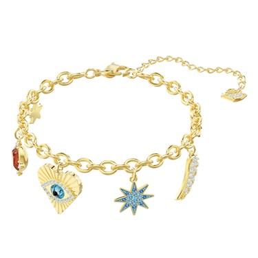 Swarovski Lucky Goddess Gold Charm Bracelet  - Click to view larger image