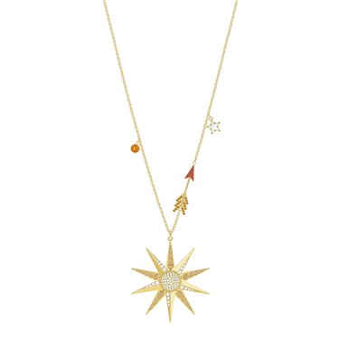 Swarovski Lucky Goddess Gold Star Necklace  - Click to view larger image