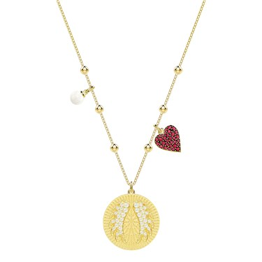 Swarovski Lucky Goddess Gold Angel Wings Necklace  - Click to view larger image