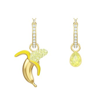 Swarovski No Regrets Banana Gold Earrings  - Click to view larger image