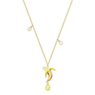 Swarovski No Regrets Banana Gold Necklace  - Click to view larger image