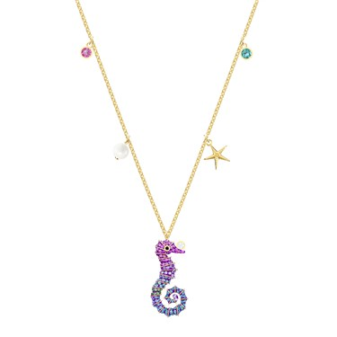 Swarovski Ocean Seahorse Necklace  - Click to view larger image